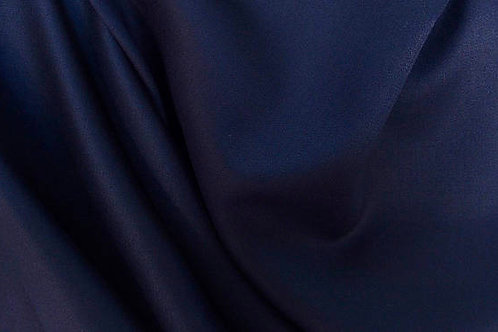 Wool Blend Dark Navy Wool Fabric By Yard Only