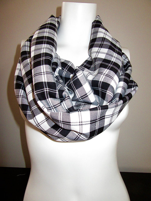 Menzies Black Tartan Plaid Infinity