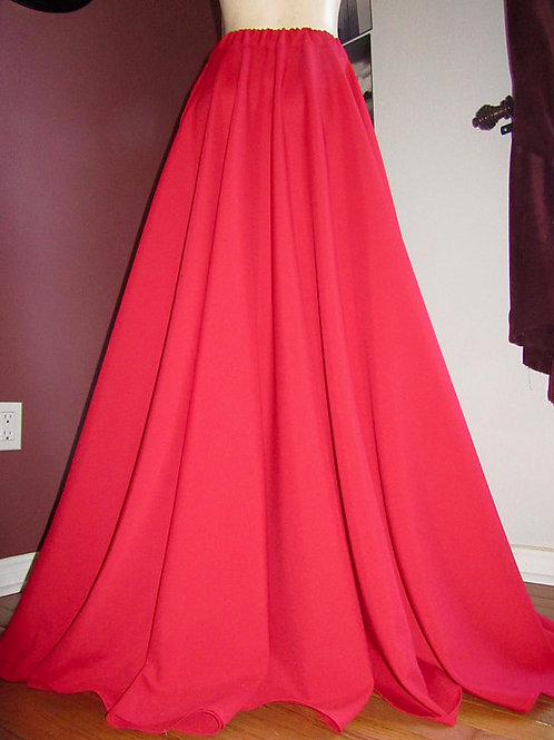 Red Full circle skirt ~ Trendy skirts ~ Long Red Skirt
