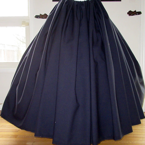 Dark Navy Wool Gathered skirt Renaissance Skirt Civil War Dark Skirt GreenC