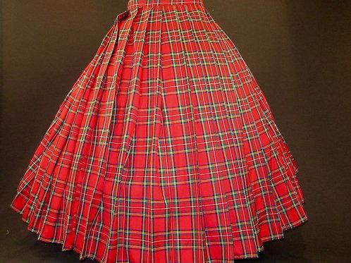 Royal Stewart Gathered skirt Renaissance Skirt Civil War Cosplay Skirt
