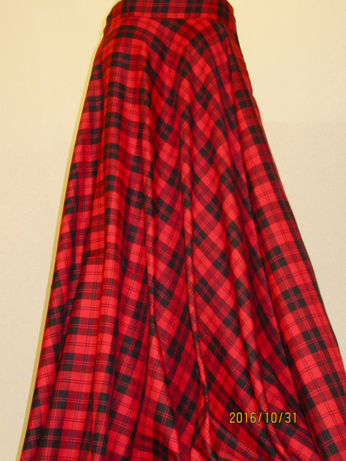 Red Menzies Full Circle Skirt~ Party Wear Red and Black Full ...