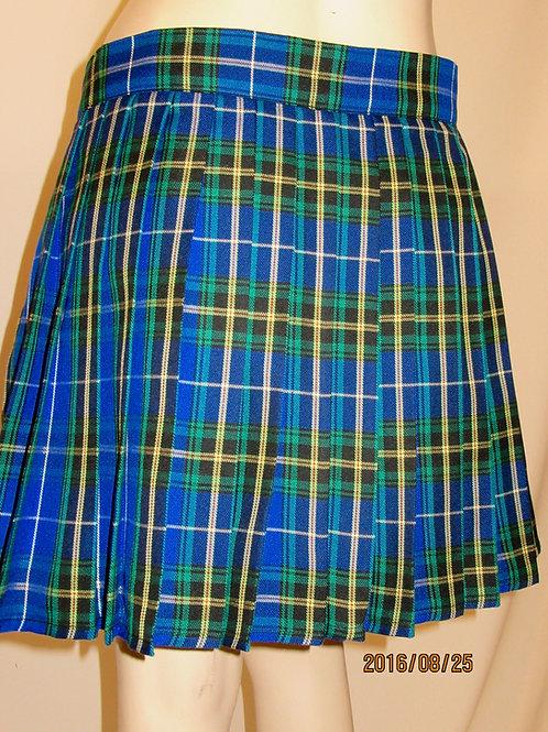Nova Scotia Mini Plaid mini kilt~Ladies mini plaid Blue Black Plaid Kilt