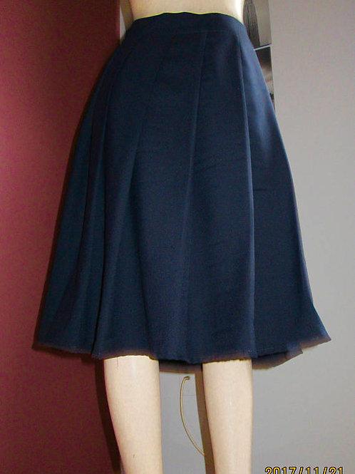 Dark Navy Pleated Plaid Skirt~ Plus Size Custom make school Girl