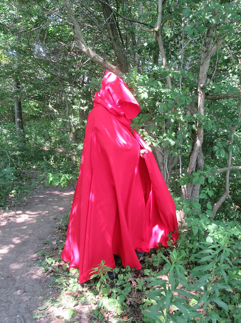 Cosplays Red Full Circle Cloak~