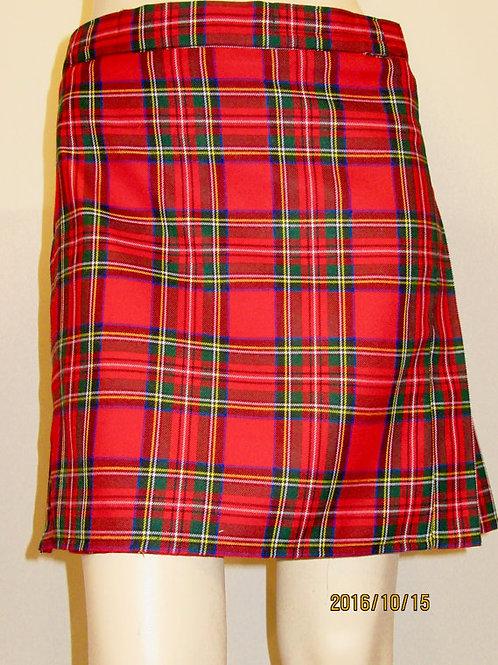 Royal Stewart Plaid mini kilt~Ladies mini plaid Red Green Plaid Kilt