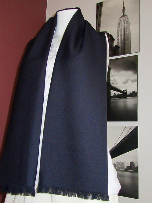"Dark Navy Men's Fringe scarf~60"" Long navy fringe scarf~scarves blue scarf"
