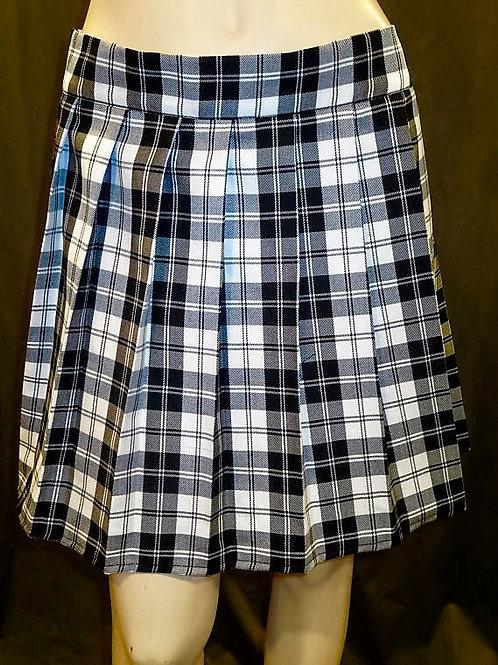 Menzies Black Plaid Pleated Plaid Skirt~ Black and White Plaid Skirt