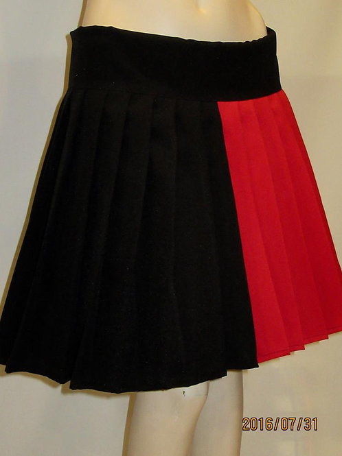 Harley Quinn Pleated Skirt Red and Black cosplay Small to Plus size~Halloween