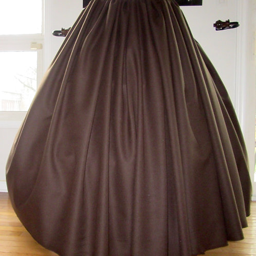 Gathered skirt Renaissance Skirt Civil War Brown Skirt Renaissance