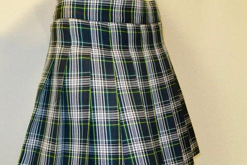 Dress Gordon Plaid Pleated skirt~Green WhitePlaid Pleated St. Patrick Skirt
