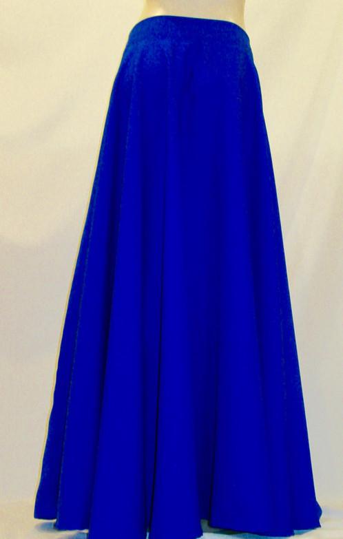 Royal Blue Full Circle Skirt-Maxi Skirts- | Long Maxi Ball Gown Skirt