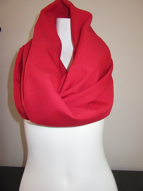 "Scarlet Red  Color Infinity Scarf~62"" Long Infinity Scarf~Custom make Scar"