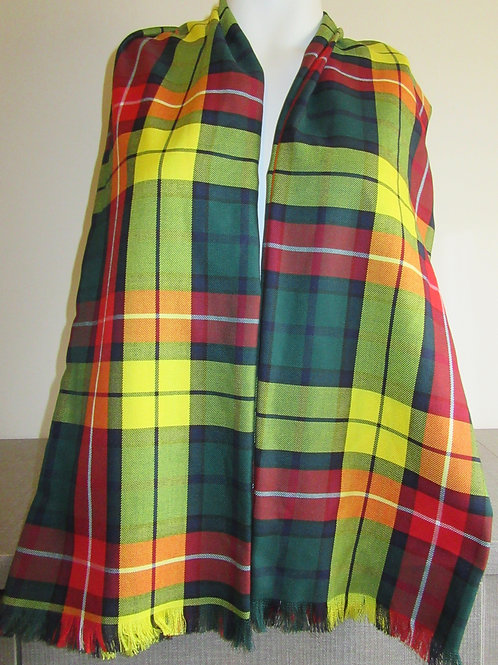 Modern Buchanan Tartan Plaid Scarf~Men's Fringe scarf~Plaid Fringe Scarf~