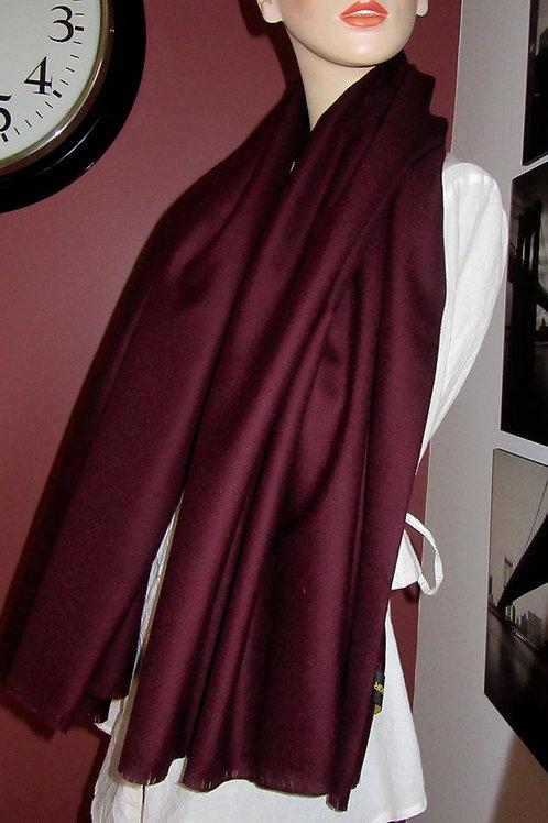 "Dark Burgundy Pure Wool Fringe Scarf~60""Long Pure wool Fringe scarf~Wedding Gift"