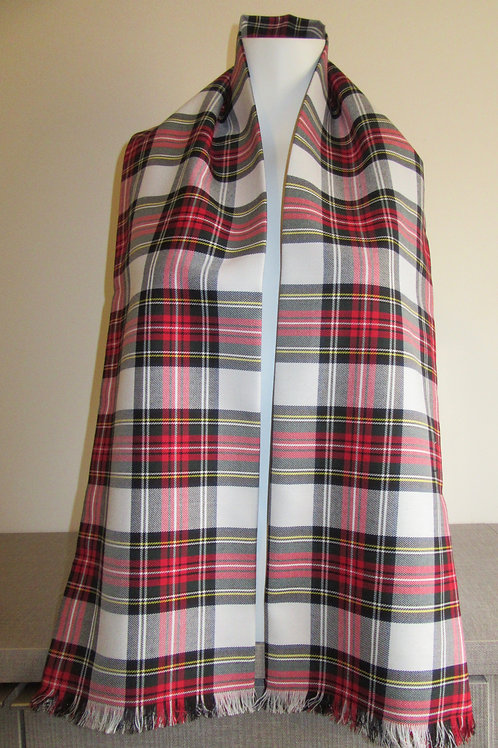 Dress Stewart Plaid Fringe Scarf
