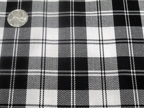 Menzies Black Plaid Tartan Black And White Plaid Fabric