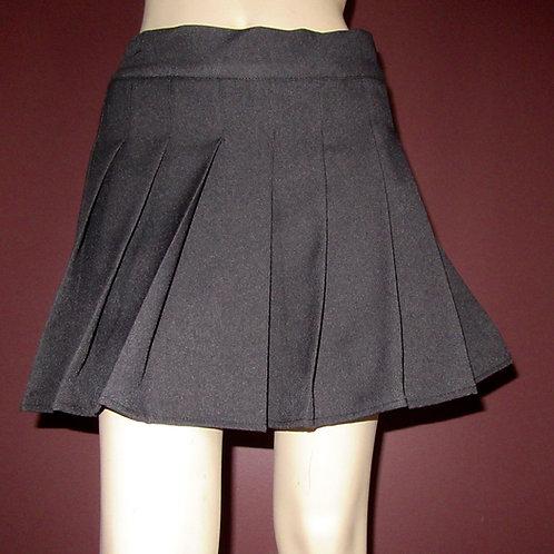 Grey Charcoal Winter Grey Sewn down pleated high waist skirts~Custom make