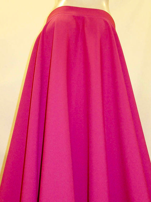 Hot Pink  Full Circle Skirt & Knee Length Skirt