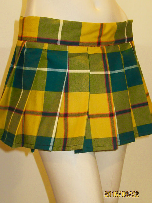 Yellow Green ~ Halloween Plaid