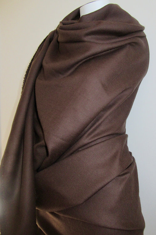 PURE WOOL  Blanket Scarf~Yummy Mocha Pure Wool Winter Gift S