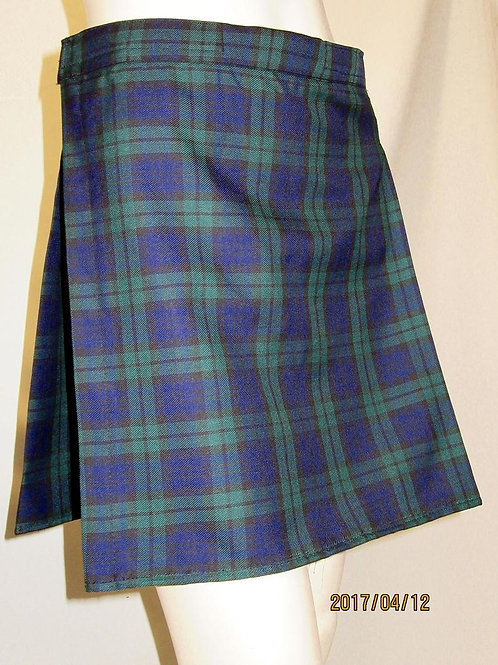 Black Watch Mini Kilt~Ladies Mini Black Blue Green Plaid Sports Ladies Kilt~