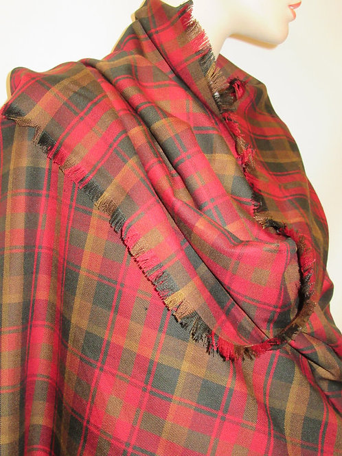 Maple Leaf  Plaid Blanket Scarf