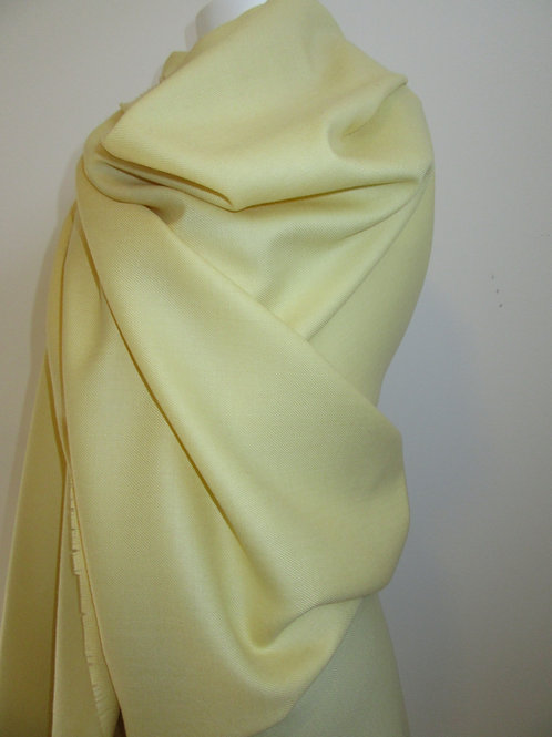 PURE WOOL  Blanket scarf~Butter Yellow Lime Pure Wool Winter Gift S