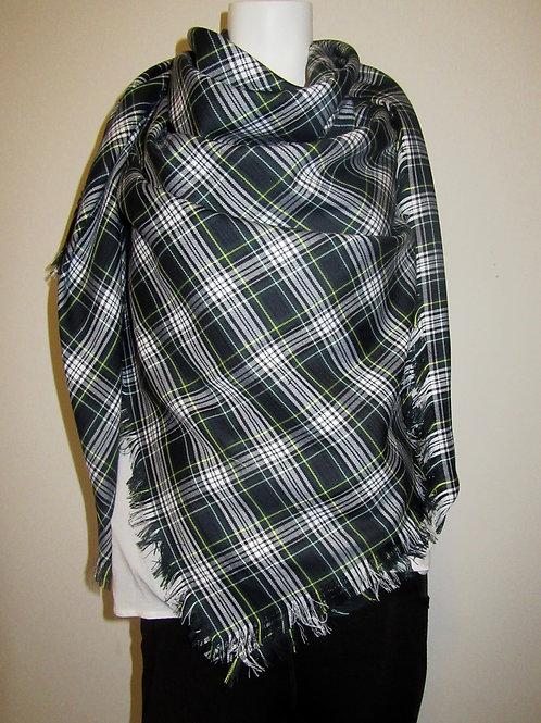 Dress Gordon Colour Blanket, Green White Plaid Wrap~Wedding Wraps,Bridesmaid