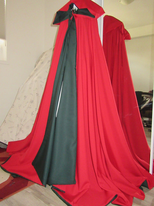Red Green Christmas Cloak ~