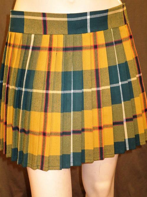 Yellow Green Pleated Skirt~Heavy pleated skirt~Halloween Plaid Skirts