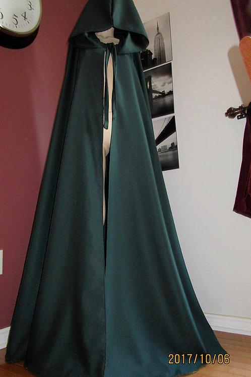 Dark Green Wool BlendFull Circle Cloaks~Custom make cloaks
