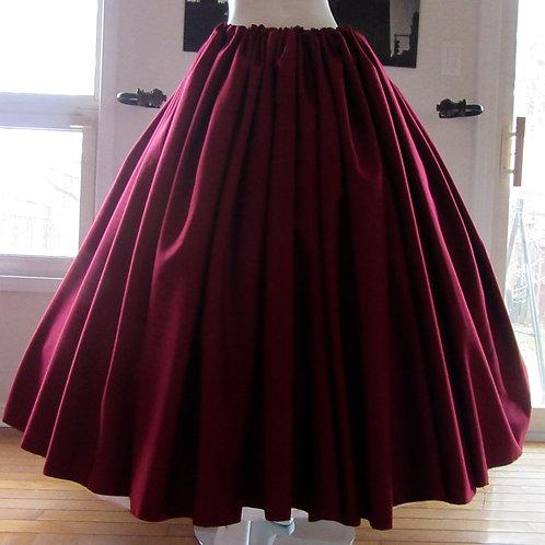 Gathered skirt Renaissance Skirt Civil War Dark Maroon Wine Skirt Renaissance