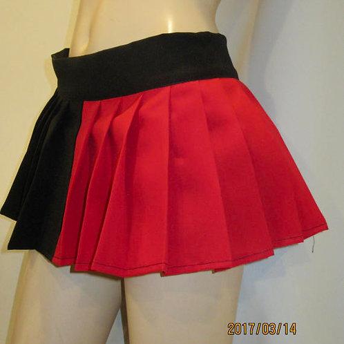 Harley Quinn Pleated Skirt Red & Black Cosplay Pleated Skirt