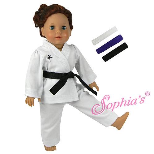 Karate Uniform & 3 Belts