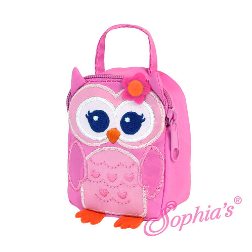 Pink Owl Fabric Lunch Bag