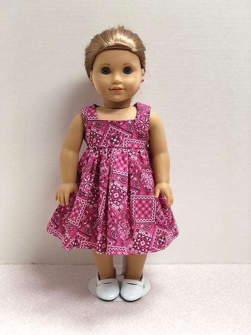 Pink Bandana Print Dress
