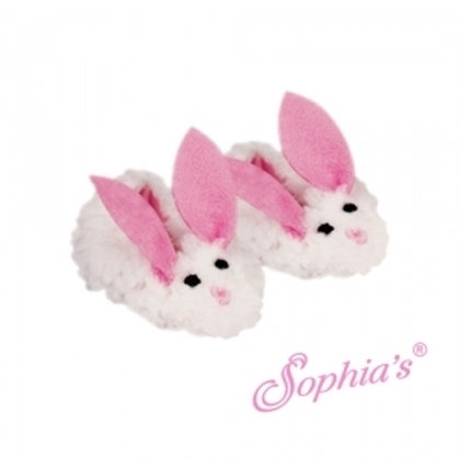 Sherpa Bunny Doll Slipper With Pink Ears