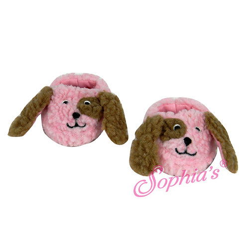 Pink Puppy Dog Slippers