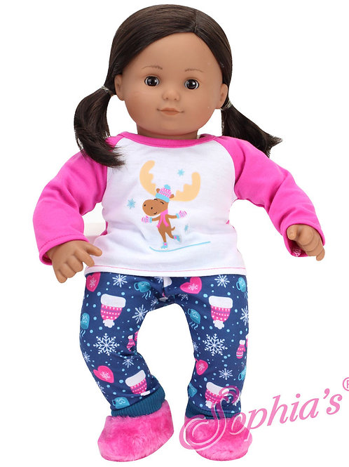 Baby Doll Moose Pajama Set