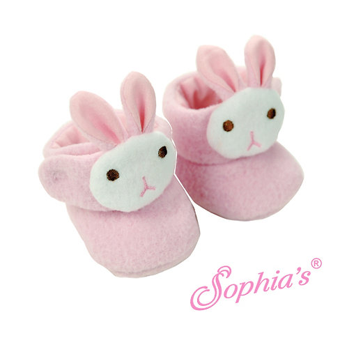 Baby Doll Fuzzy Animal Slippers