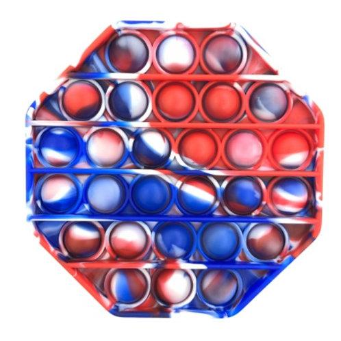 Red, White & Blue Octagon Pop Fidget