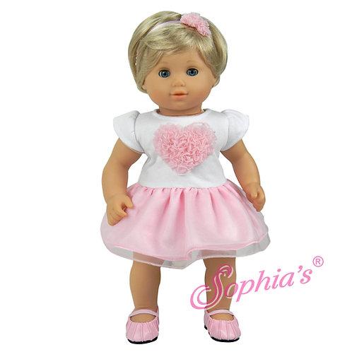 Baby Doll Heart Dress with Tutu Skirt