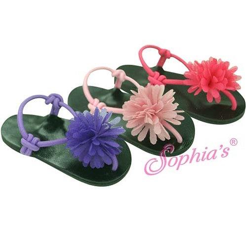 Chiffon Flower Thong Sandals