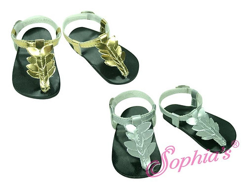 Metallic Flower Thong Sandals