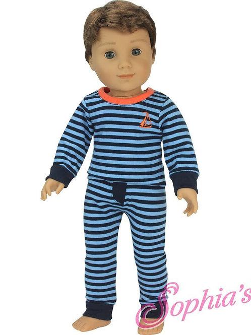 Blue Stripe Pajama Set