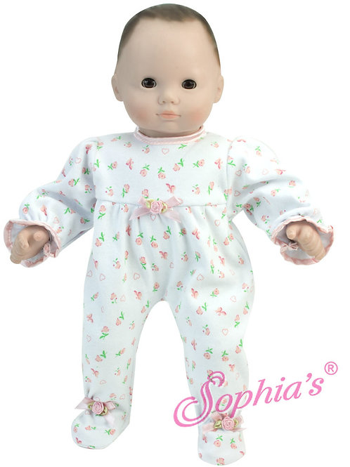Baby Doll Pink Floral Sleeper
