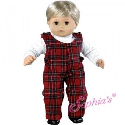 Tartan Baby Doll Jumper & White Turtleneck Set