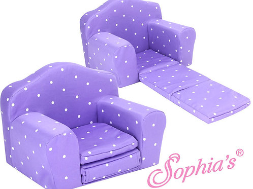 Purple Polka Dot Pull Out Chair Bed
