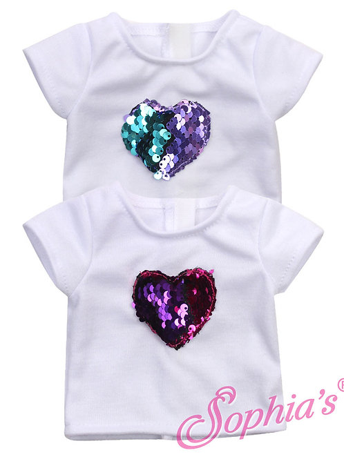 Reversible Sequin Heart T-Shirt